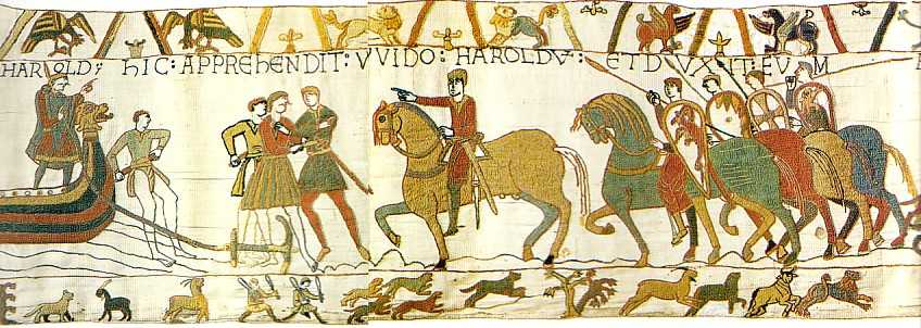 The Normans, seen here turning Ænglisc into English